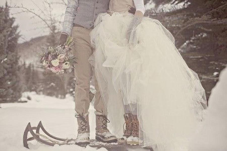 Enriquece tu vestido de novia en la nieve - Presume de Boda