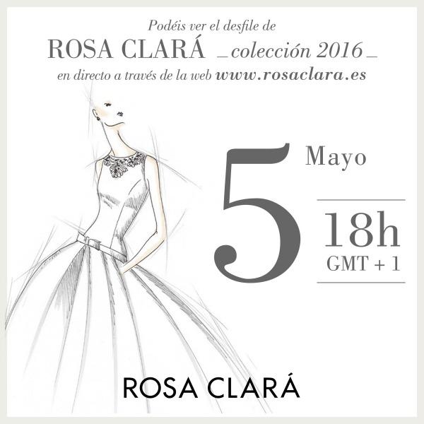 Sigue en directo el desfile de Rosa Clará en la Bridal Week