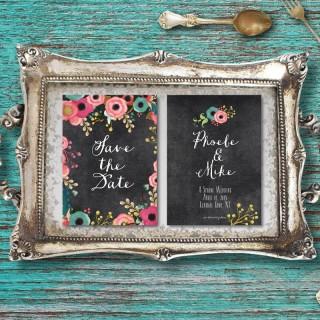 Invitaciones en negro para tu boda