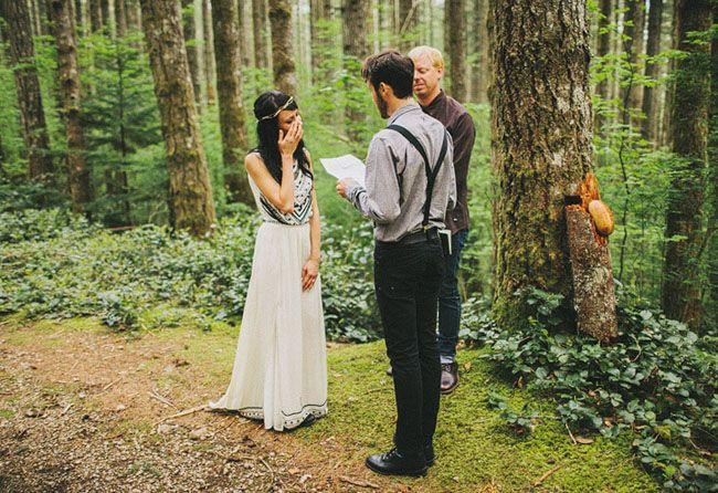 Elopement Wedding in the Woods