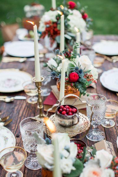 Decora tu mesa de Navidad… o de boda