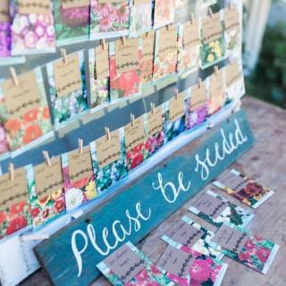Seating plan para amantes de las flores