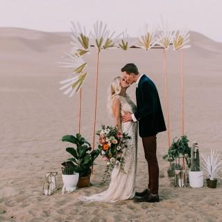 Una preciosa Elopement Wedding en el desierto