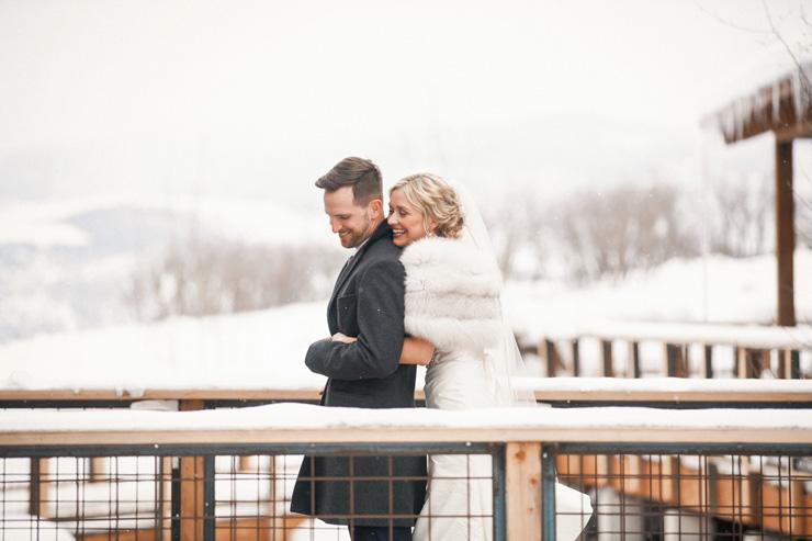 Una boda de invierno en oro y azul
