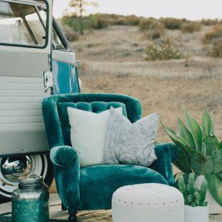 Inspiración en azul, cobre y… ¡con cactus!